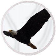 Nisqually Eagle 2 Round Beach Towel