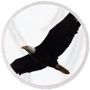 Nisqually Eagle Round Beach Towel