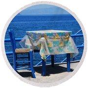 Nisyros Taverna Round Beach Towel