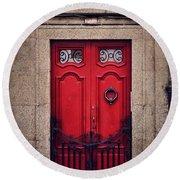 No. 24 - The Red Door Round Beach Towel