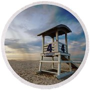 No 4 Lifeguard Station Round Beach Towel