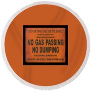 No Gas Passing Round Beach Towel