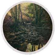 No Matter How Far Round Beach Towel by Laurie Search