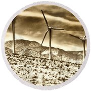 No Place Like Home 3 Palm Springs Round Beach Towel