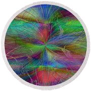 No Strings Attatched Round Beach Towel
