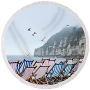 No Takers Today Round Beach Towel