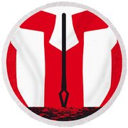 No001 My 300 Minimal Movie Poster Round Beach Towel