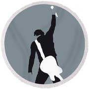 No017 My Bruce Springsteen Minimal Music Poster Round Beach Towel