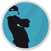 No025 My Beastie Boys Minimal Music Poster Round Beach Towel by Chungkong Art