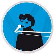 No039 My Stevie Wonder Minimal Music Poster Round Beach Towel