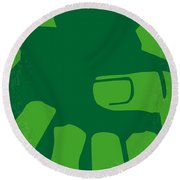 No040 My Hulk Minimal Movie Poster Round Beach Towel