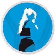 No049 My Iggy Azalea Minimal Music Poster Round Beach Towel by Chungkong Art