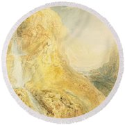 No.0571 Mossdale Fall, Yorkshire Round Beach Towel