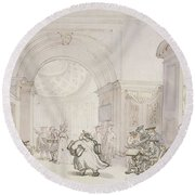 No.0613 The West Room And The Dome Room Round Beach Towel