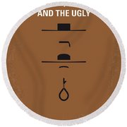No090 My The Good The Bad The Ugly Minimal Movie Poster Round Beach Towel
