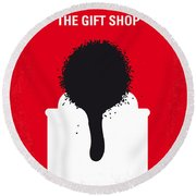 No130 My Exit Through The Gift Shop Minimal Movie Poster Round Beach Towel by Chungkong Art