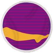 No135 My The Graduate Minimal Movie Poster Round Beach Towel