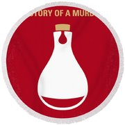 No194 My Perfume The Story Of A Murderer Minimal Movie Poster Round Beach Towel by Chungkong Art