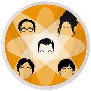 No196 My The Big Bang Theory Minimal Poster Round Beach Towel