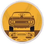 No207 My The Fast And The Furious Minimal Movie Poster Round Beach Towel by Chungkong Art
