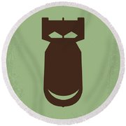 No212 My The Dictator Minimal Movie Poster Round Beach Towel