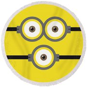 No213 My Despicable Me Minimal Movie Poster Round Beach Towel