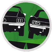 No214 My Bullitt Minimal Movie Poster Round Beach Towel