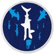 No216 My Sharknado Minimal Movie Poster Round Beach Towel
