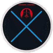 No225 My Star Wars Episode IIi Revenge Of The Sith Minimal Movie Poster Round Beach Towel