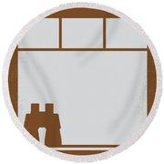 No238 My Rear Window Minimal Movie Poster Round Beach Towel