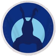 No295 My Donnie Darko Minimal Movie Poster Round Beach Towel by Chungkong Art