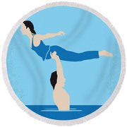 No298 My Dirty Dancing Minimal Movie Poster Round Beach Towel