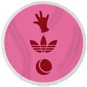 No320 My The Royal Tenenbaums Minimal Movie Poster Round Beach Towel