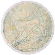 No.3713 Songe De La Fantasie, 1864 Round Beach Towel