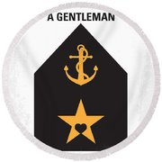 No388 My An Officer And A Gentleman Minimal Movie Poster Round Beach Towel