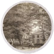 No.3933.f8 View Of The Stables On Lord Round Beach Towel