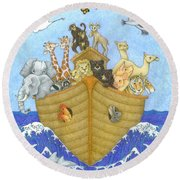 Noah's Ark Round Beach Towel by Alison Stein