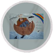 Noah's Ark Round Beach Towel