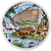 Noahs Ark - The Homecoming Round Beach Towel by Steve Crisp