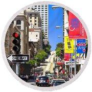 Nob Hill - San Francisco Round Beach Towel