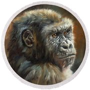 Noble Ape Round Beach Towel