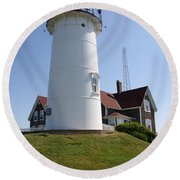 Nobska Light Station Round Beach Towel