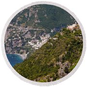 Nocelle Above Postitano Round Beach Towel