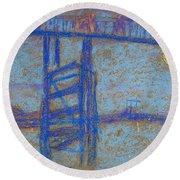 Nocturne. Battersea Bridge Round Beach Towel