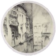 Nocturne Palaces Round Beach Towel