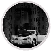 Noir City Round Beach Towel