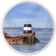 Noirmont Point Tower - Jersey Round Beach Towel