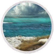 Nonsuch Bay Antigua Round Beach Towel