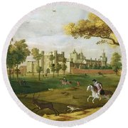 Nonsuch Palace In The Time Of King Round Beach Towel