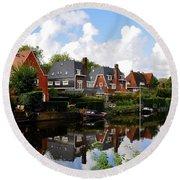 Noorder Amstelkanaal Amsterdam Round Beach Towel
